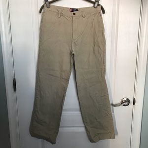 Boys Chaps Khaki Flat front pants 16